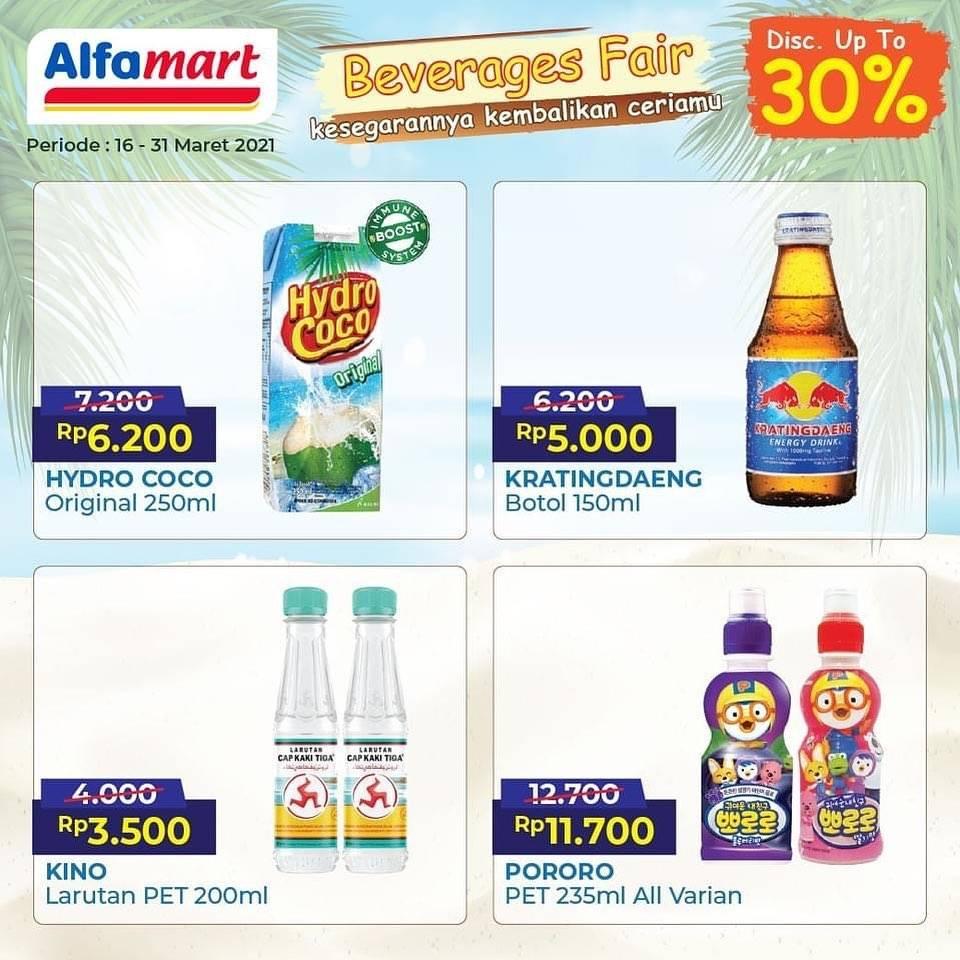 Diskon Katalog Promo Alfamart Beverages Fair Periode 16 - 31 Maret 2021
