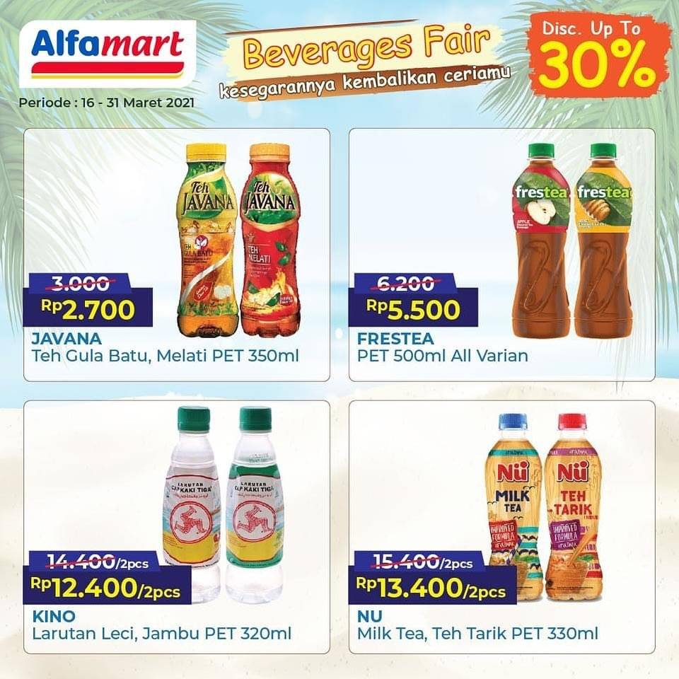 Promo diskon Katalog Promo Alfamart Beverages Fair Periode 16 - 31 Maret 2021