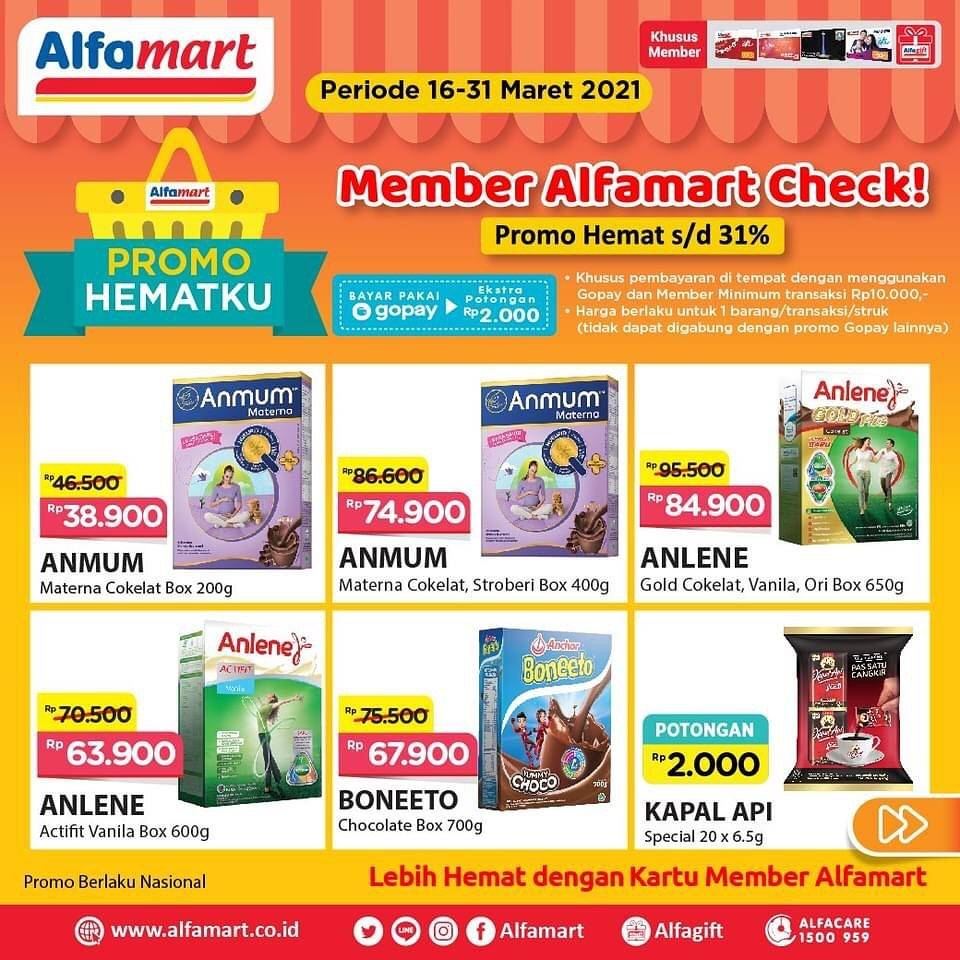 Diskon Katalog Promo Alfamart Promo Hematku Periode 16 - 31 Maret 2021