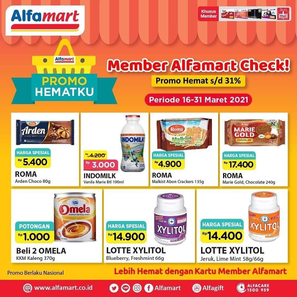 Promo diskon Katalog Promo Alfamart Promo Hematku Periode 16 - 31 Maret 2021