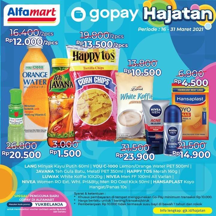 Diskon Katalog Promo Alfamart Hajatan Gopay Periode 16 - 31 Maret 2021