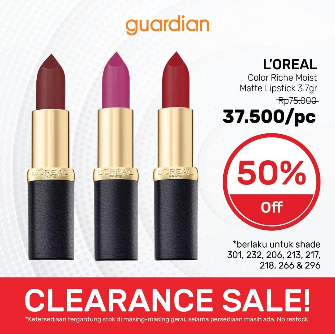 Promo diskon Katalog Promo Guardian Clearance SALE 50% Periode 18 - 31 Maret 2021