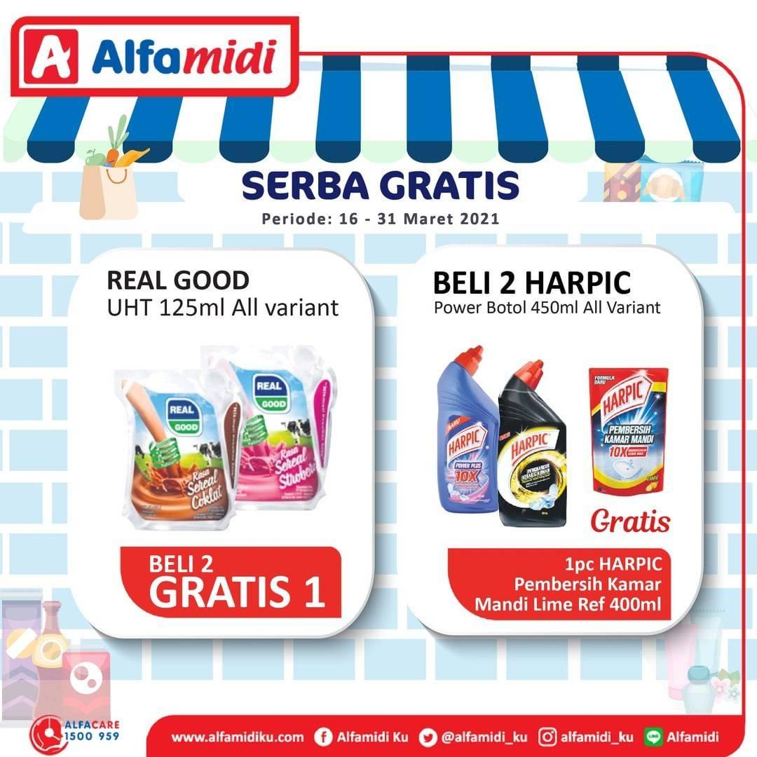 Diskon Katalog Promo Alfamidi Serba Gratis Periode 16 - 31 Maret 2021