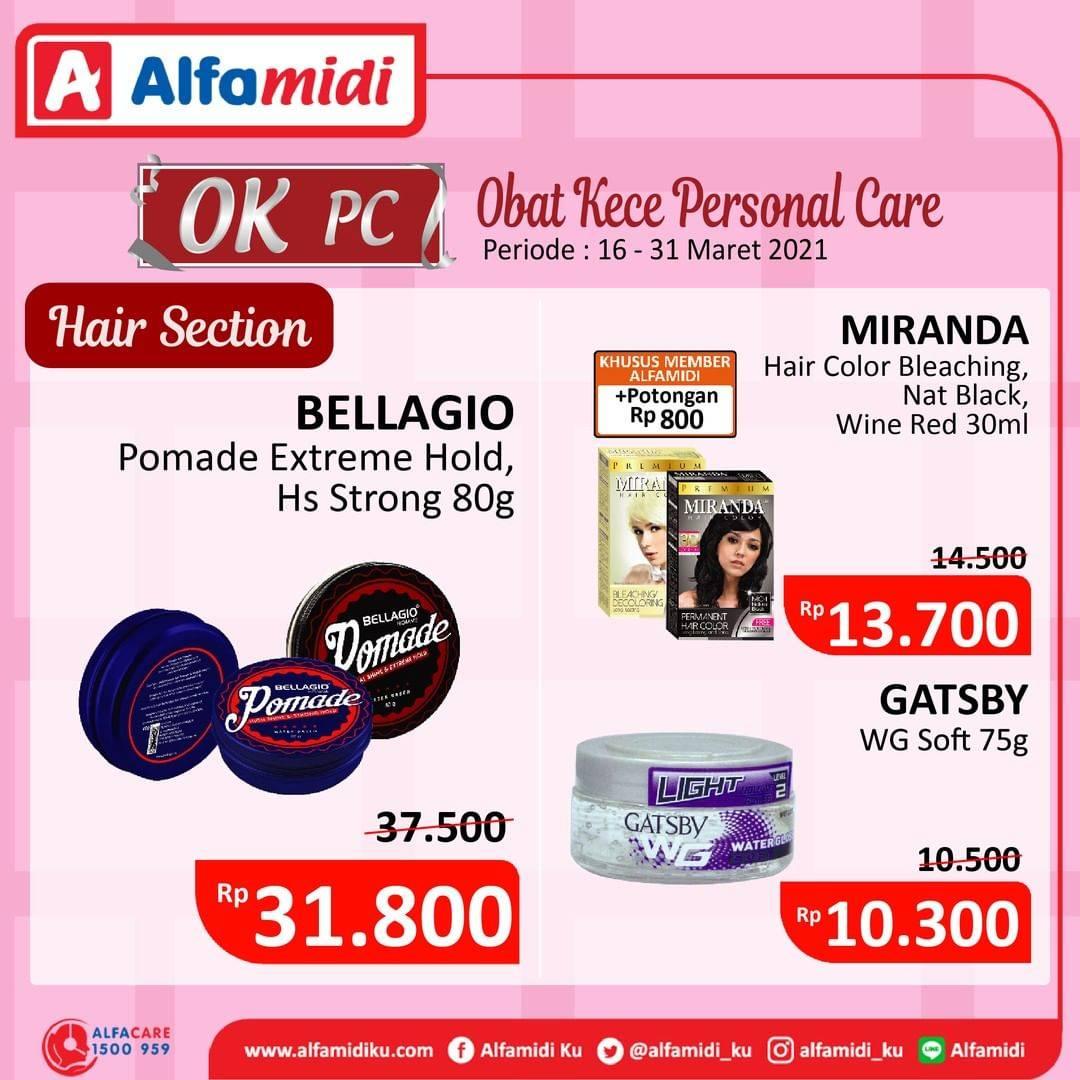 Promo diskon Katalog Promo Alfamidi Personal Care Periode 16 - 31 Maret 2021