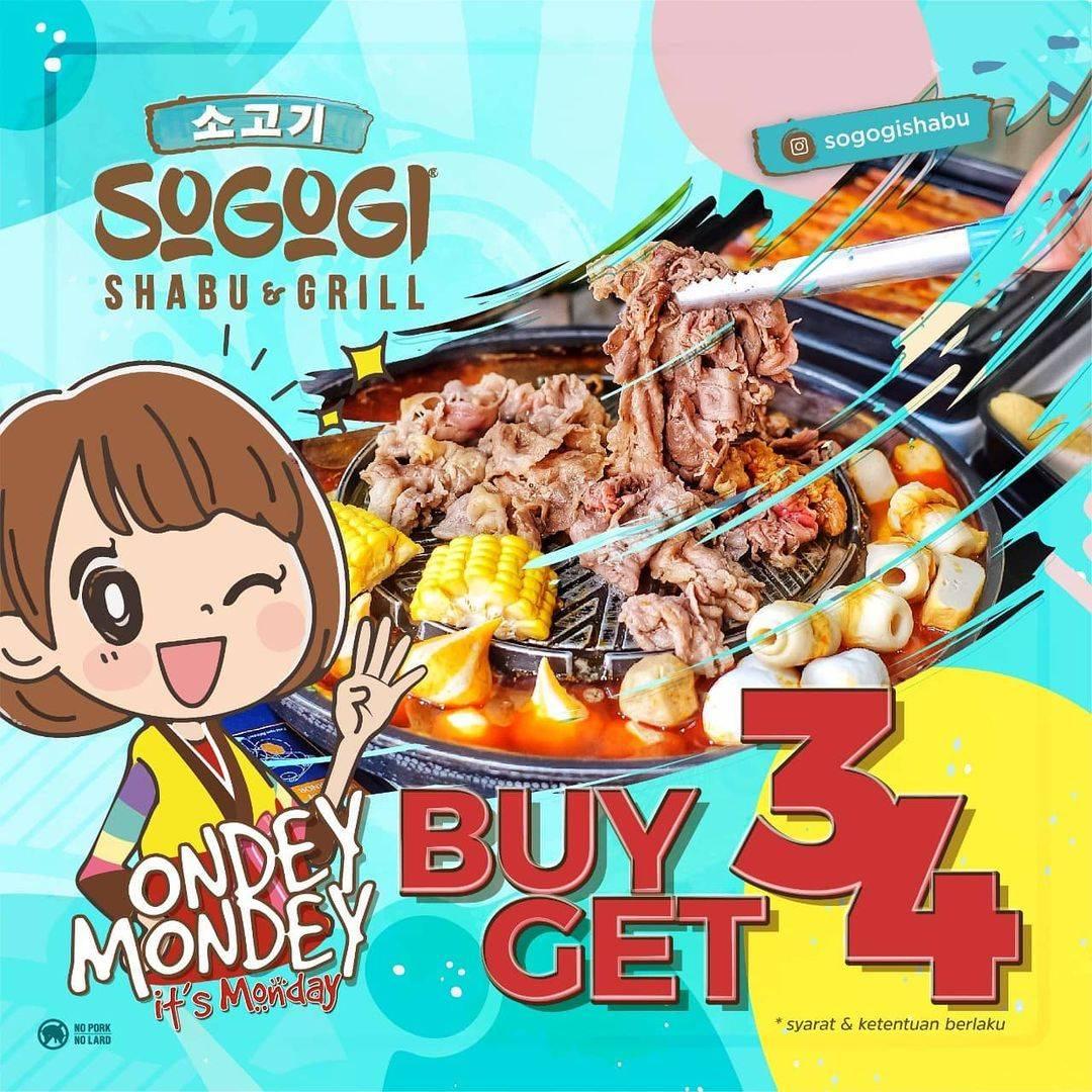 Diskon Sogogi Ondey Mondey Buy 3 Get 4 Free