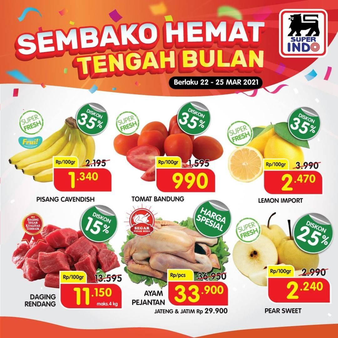 Promo diskon Katalog Promo Superindo Sembako Hemat Tengah Bulan Periode 22 - 25 Maret 2021