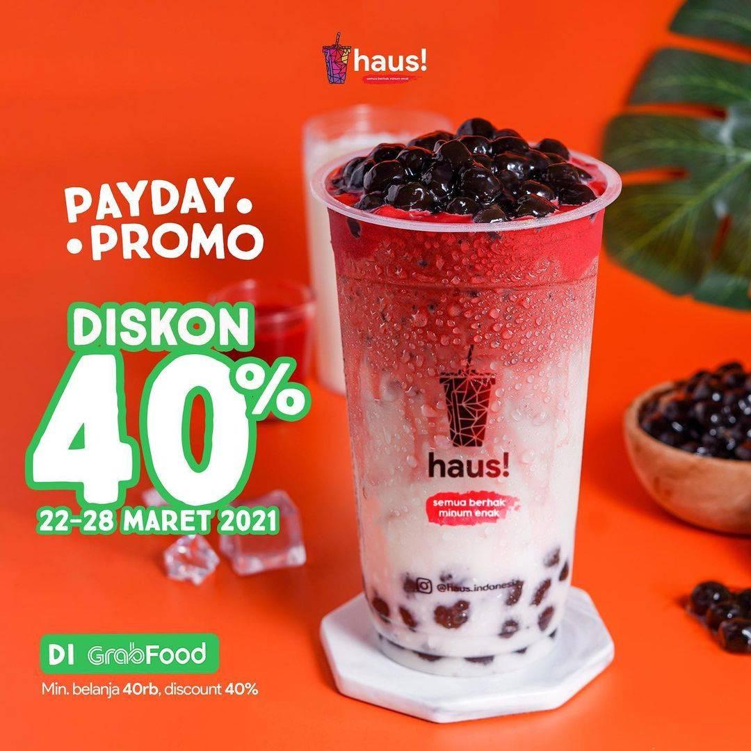 Diskon Haus! Indonesia Diskon 40% Dengan GrabFood