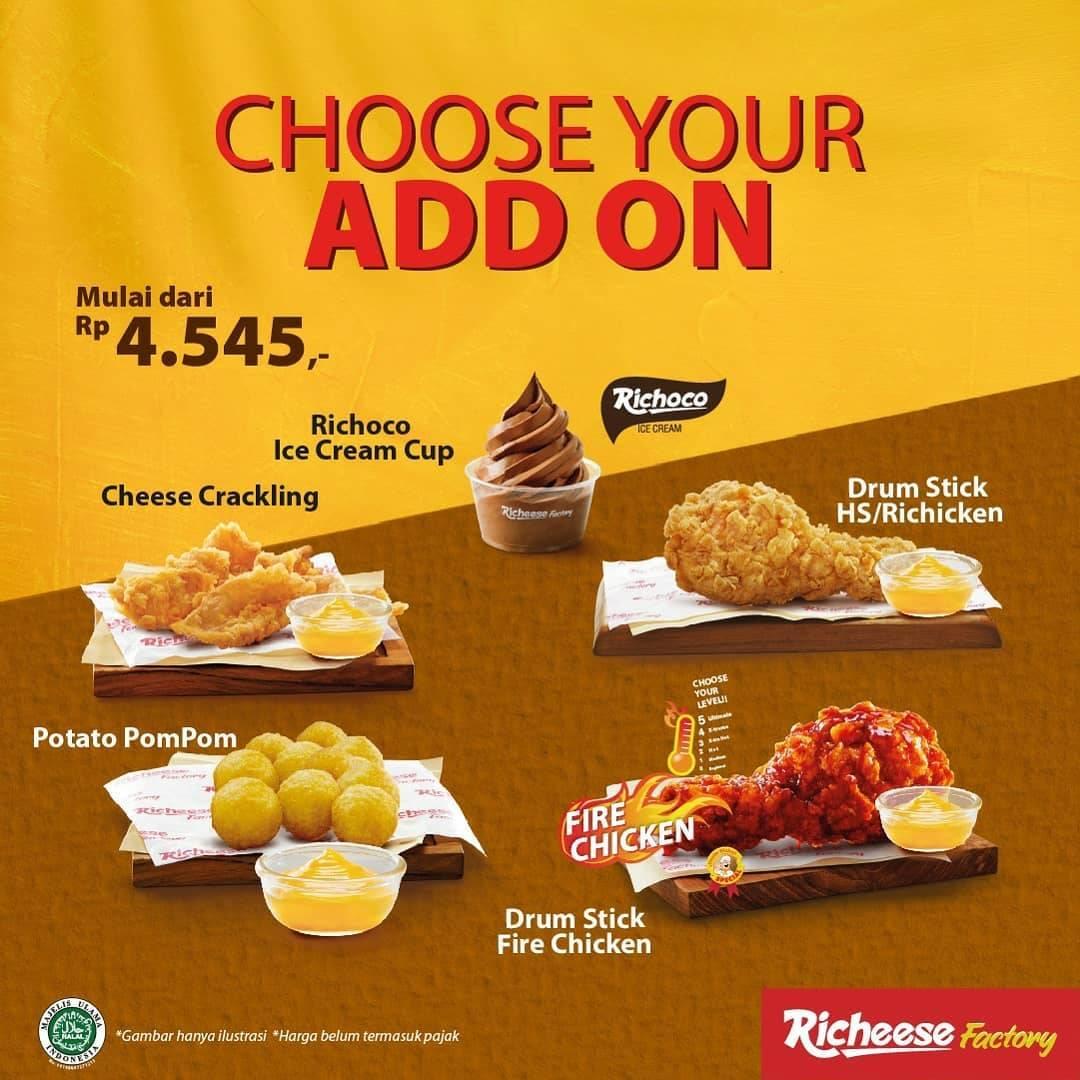 Promo diskon Richeese Factory New Paket Hemat Harga Mulai Dari Rp. 20.000