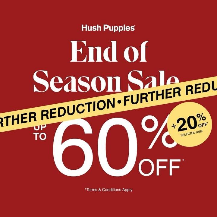 Diskon Hush Puppies End Of Season Sale Up To 60% Off + 20% Off