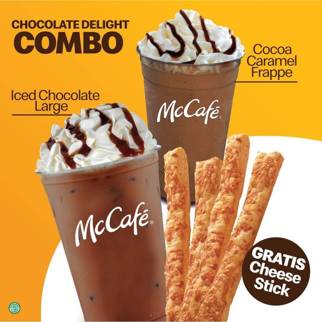 Diskon McDonalds Beli Chocolate Delight Gratis Cheese Stick
