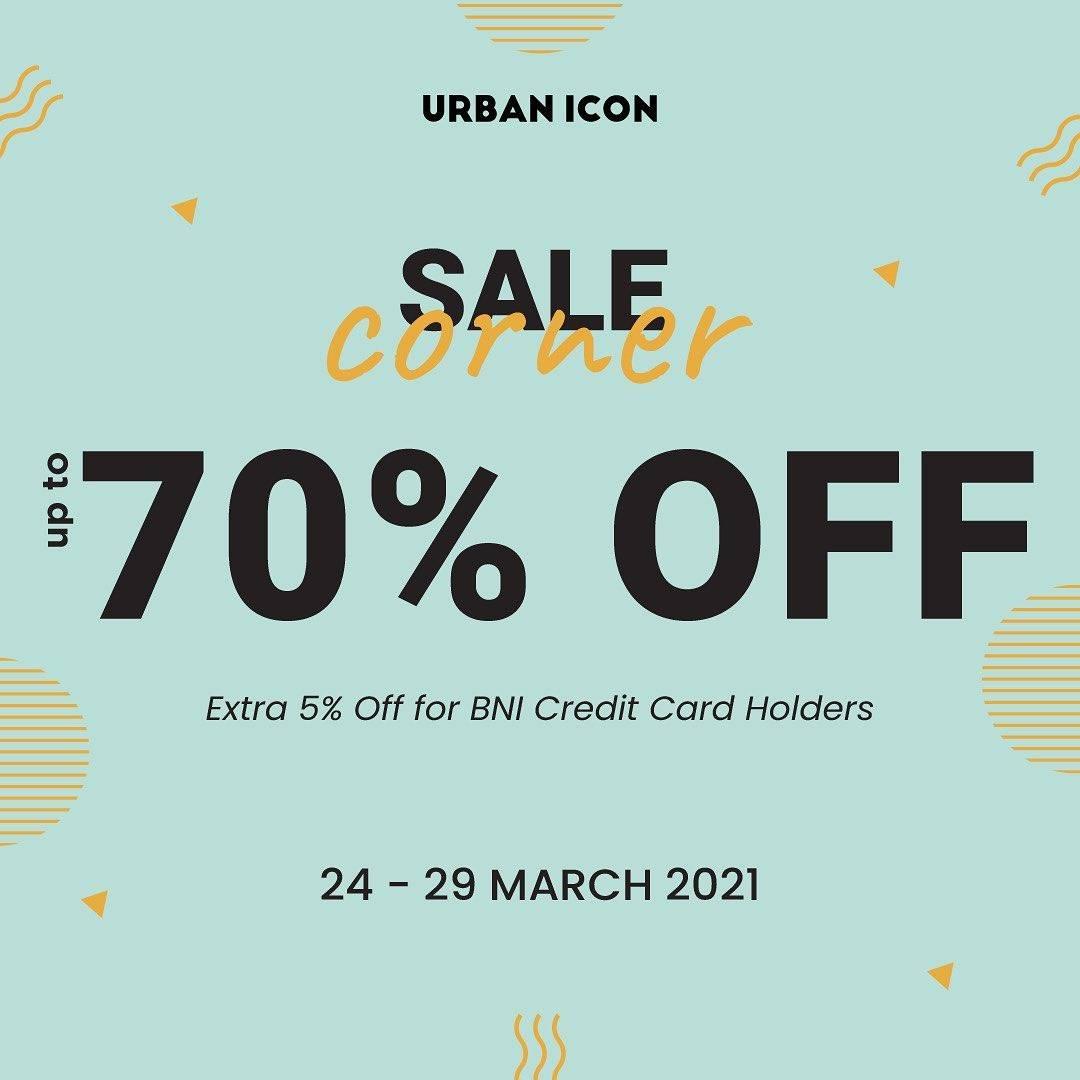 Diskon Urban Icon Sale Corner Up To 70% + 5% Off With BNI Credit Card Holders
