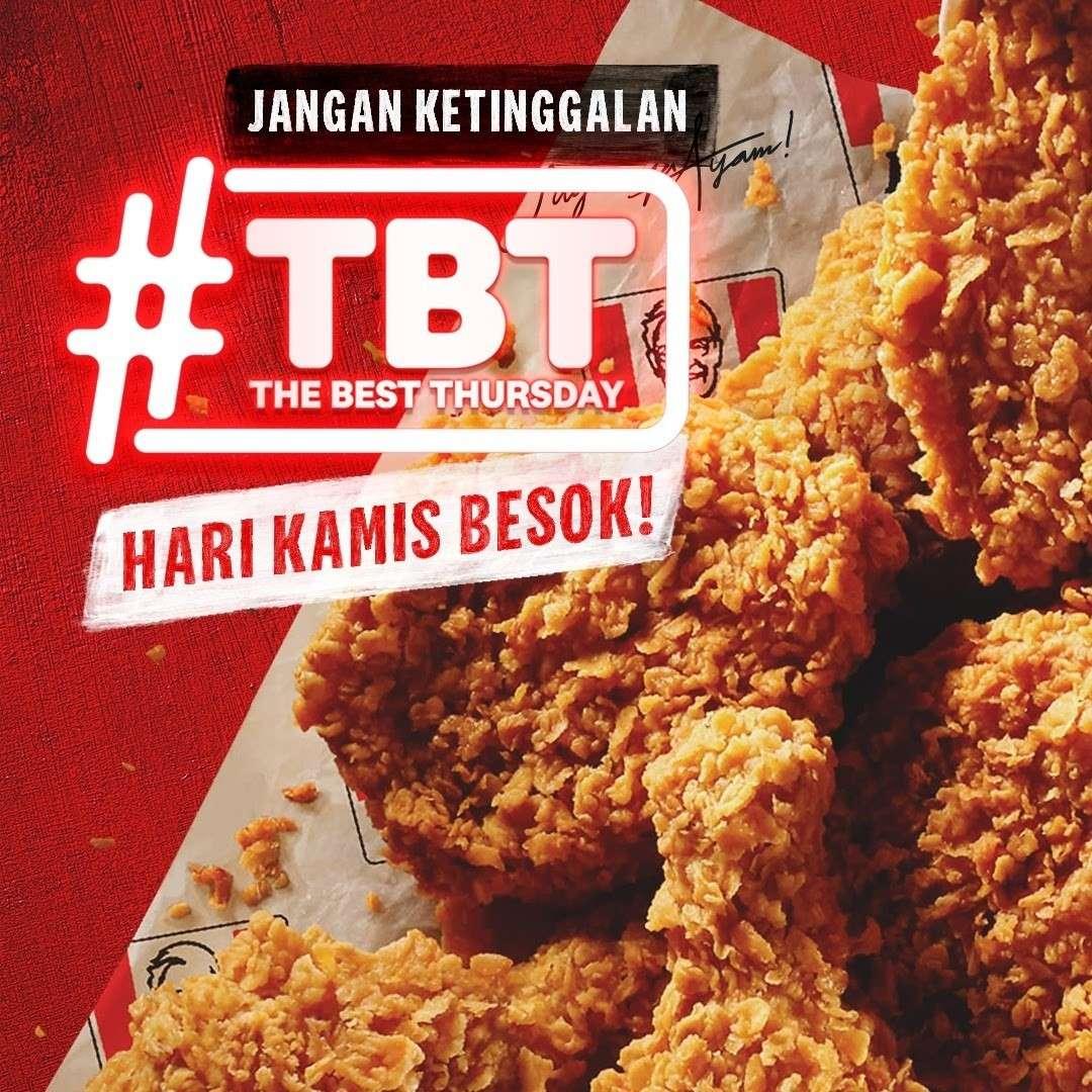 Diskon KFC Promo The Best Thursday 10 Pcs Fried Chicken Only For Rp. 90.000
