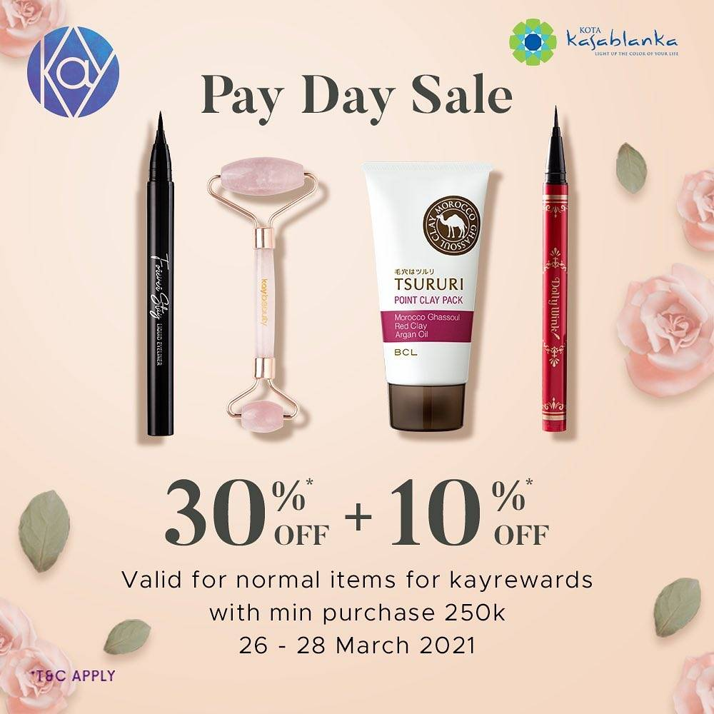 Promo diskon Kay Collection Payday Sale 30% Off + 10% Off