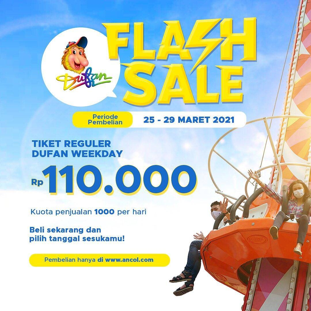 Promo diskon Dufan Flash Sale Tiket Reguler Dufan Weekday Only For Rp. 110.00