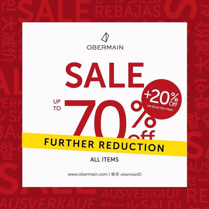 Diskon Obermain Sale Up To 70% Off + 20% Off On Selected Items