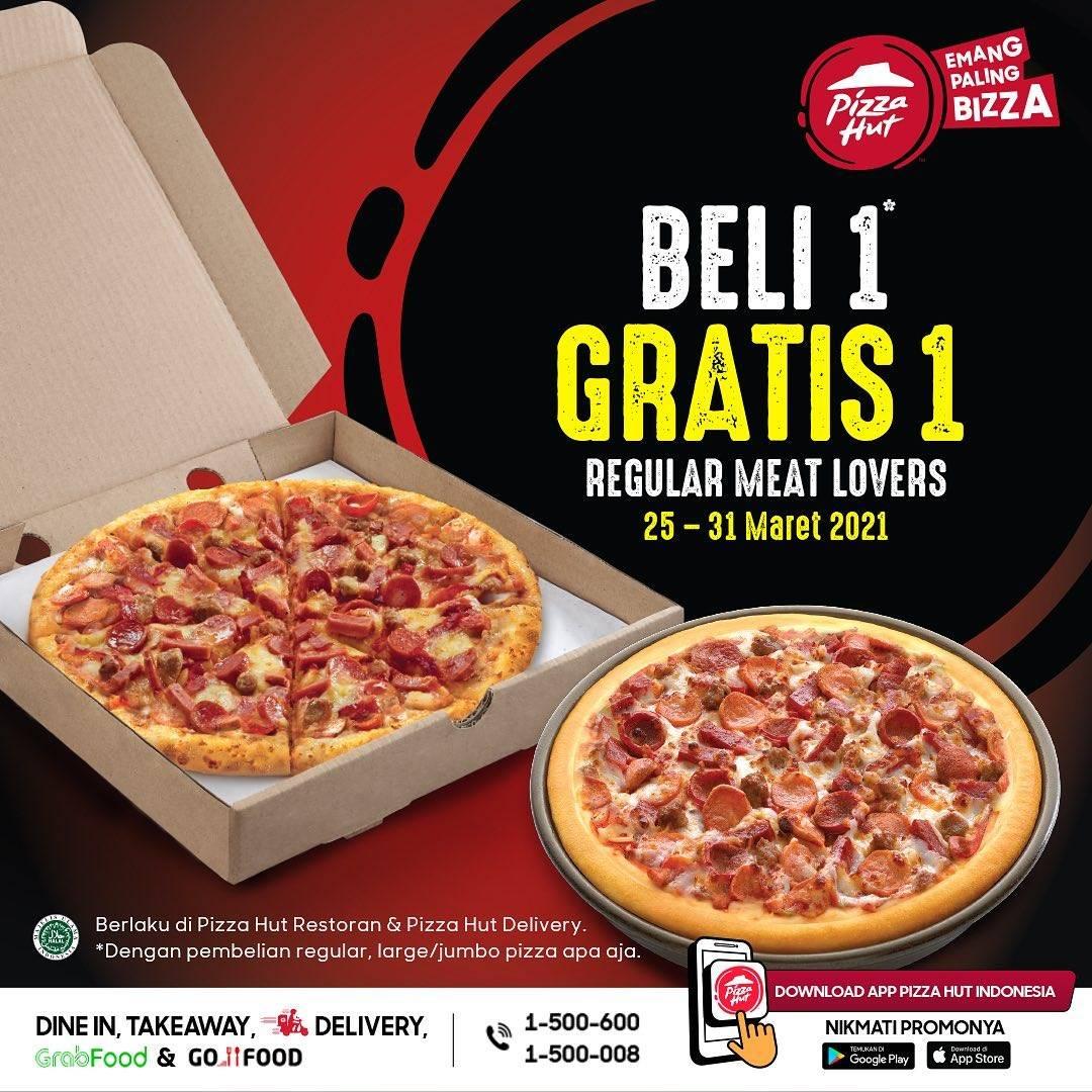 Diskon Pizza Hut Beli 1 Gratis 1 Pizza Regular Meat Lovers