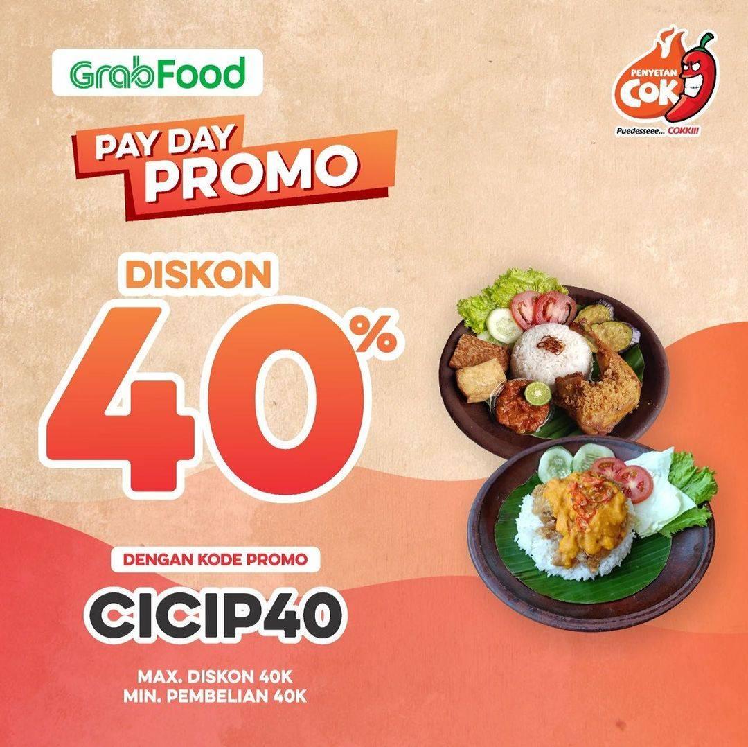 Diskon Penyetan Cok Discount 40% Off On GrabFood