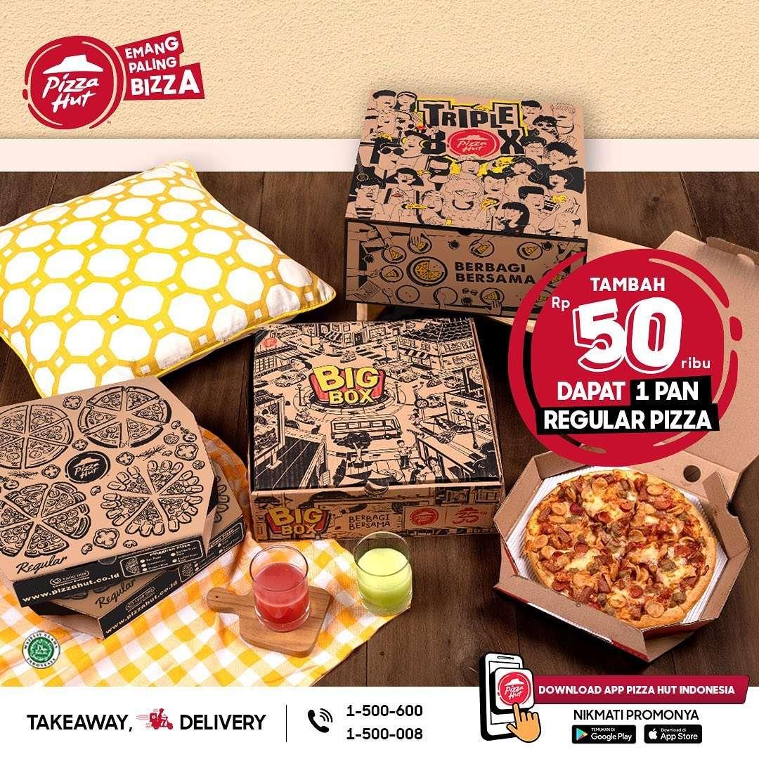 Diskon Pizza Hut Tambah Rp. 50.000 Dapat 1 Pan Regular Pizza