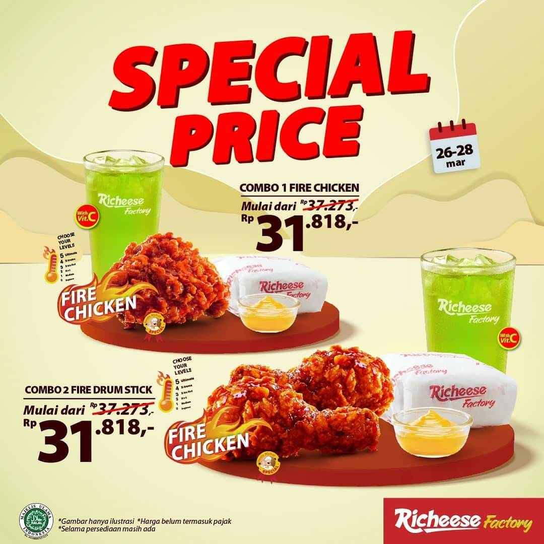 Diskon Richeese Factory Special Price Spicy Treats Rp. 31.818