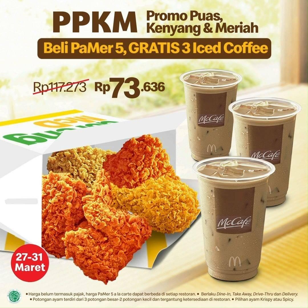 Diskon McDonalds Promo Pamer 5 Gratis 3 Iced Coffee