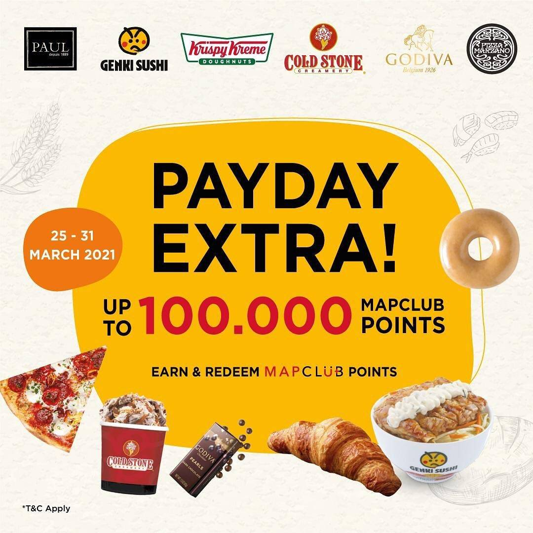 Diskon Genki Sushi Payday Extra Up To 100.000 MAP Club Points