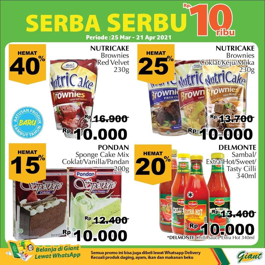 Promo diskon Katalog Promo Giant Serba Serbu 10.000!! Periode 25 Maret - 21 April 2021