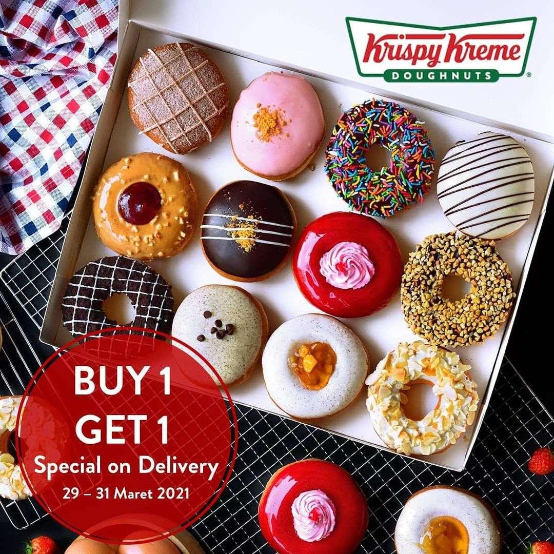 Diskon Krispy Kreme Buy 1 Get 1 Free Special On Delivery
