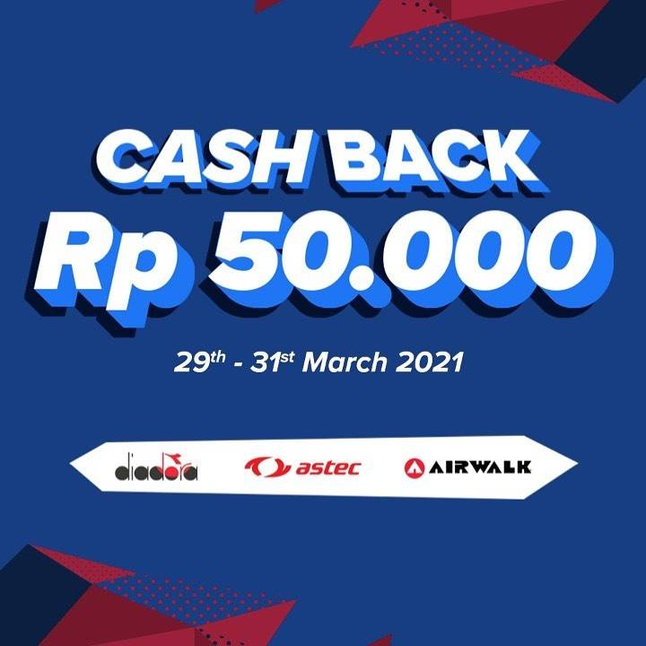 Diskon Planet Sports Cashback Rp. 50.000 Untuk Brand Pilihan
