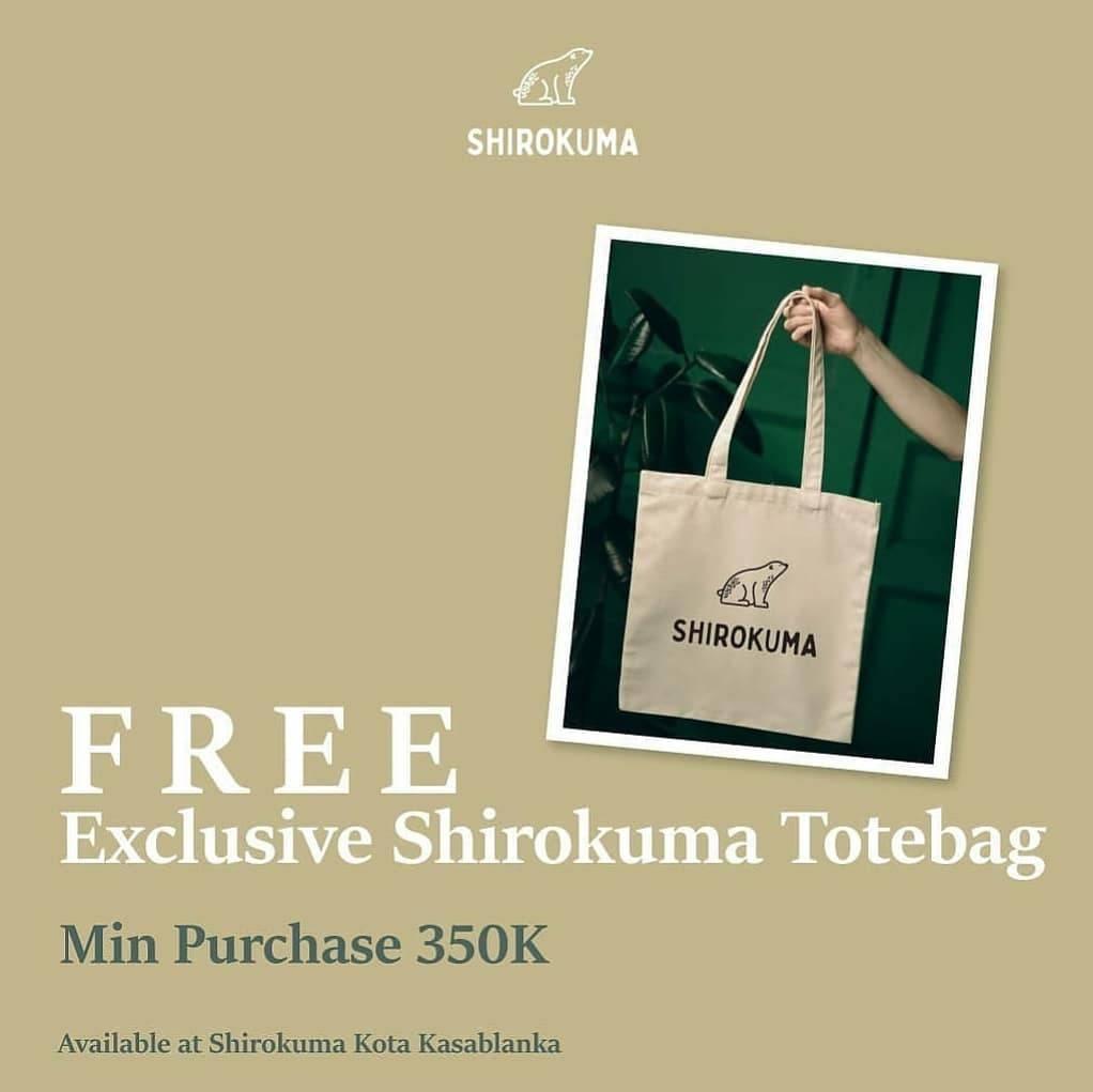 Diskon Shirokuma Get Free Exclusive Shirokuma Totebag