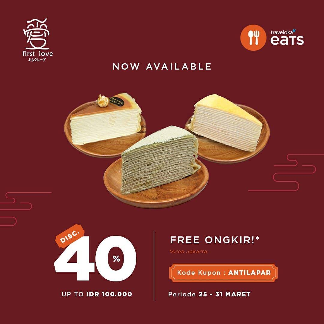 Diskon First Love Petisserie Discount 40% Off With Traveloka Eats