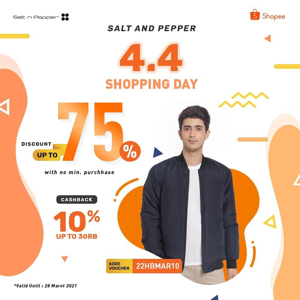 Diskon Salt & Pepper 4.4 Shopping Day Discount Up To 75% Off On Shopee