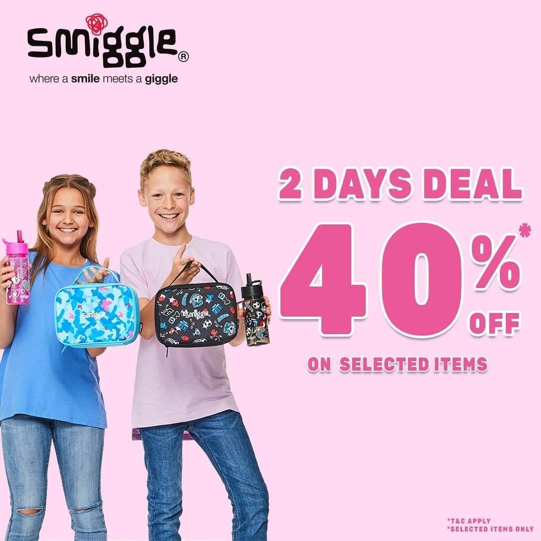 Diskon Kidz Station 2 Days Deals Up To 40% Off On Smiggle Items