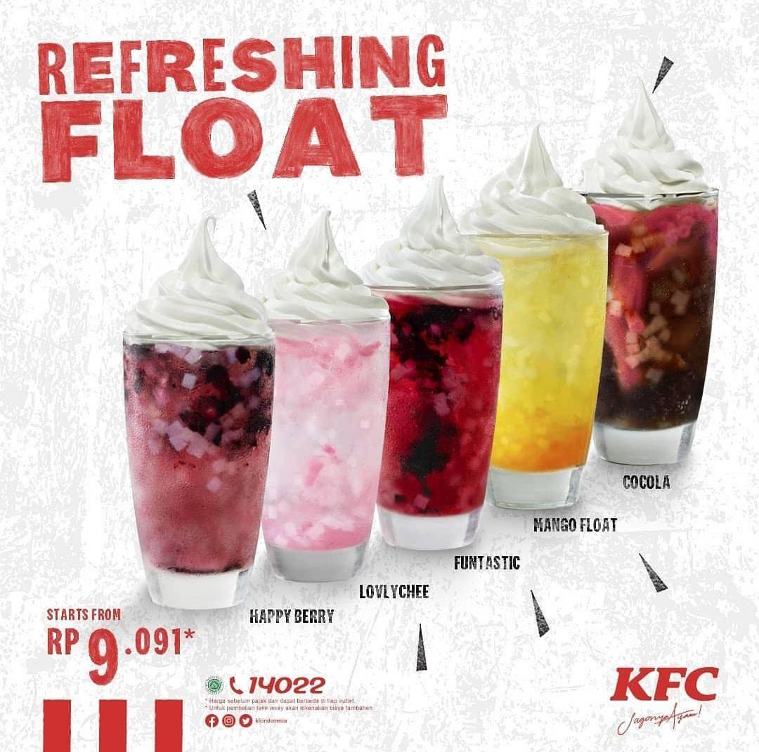KFC Promo Harga Spesial Refreshing Float Rp. 9.091