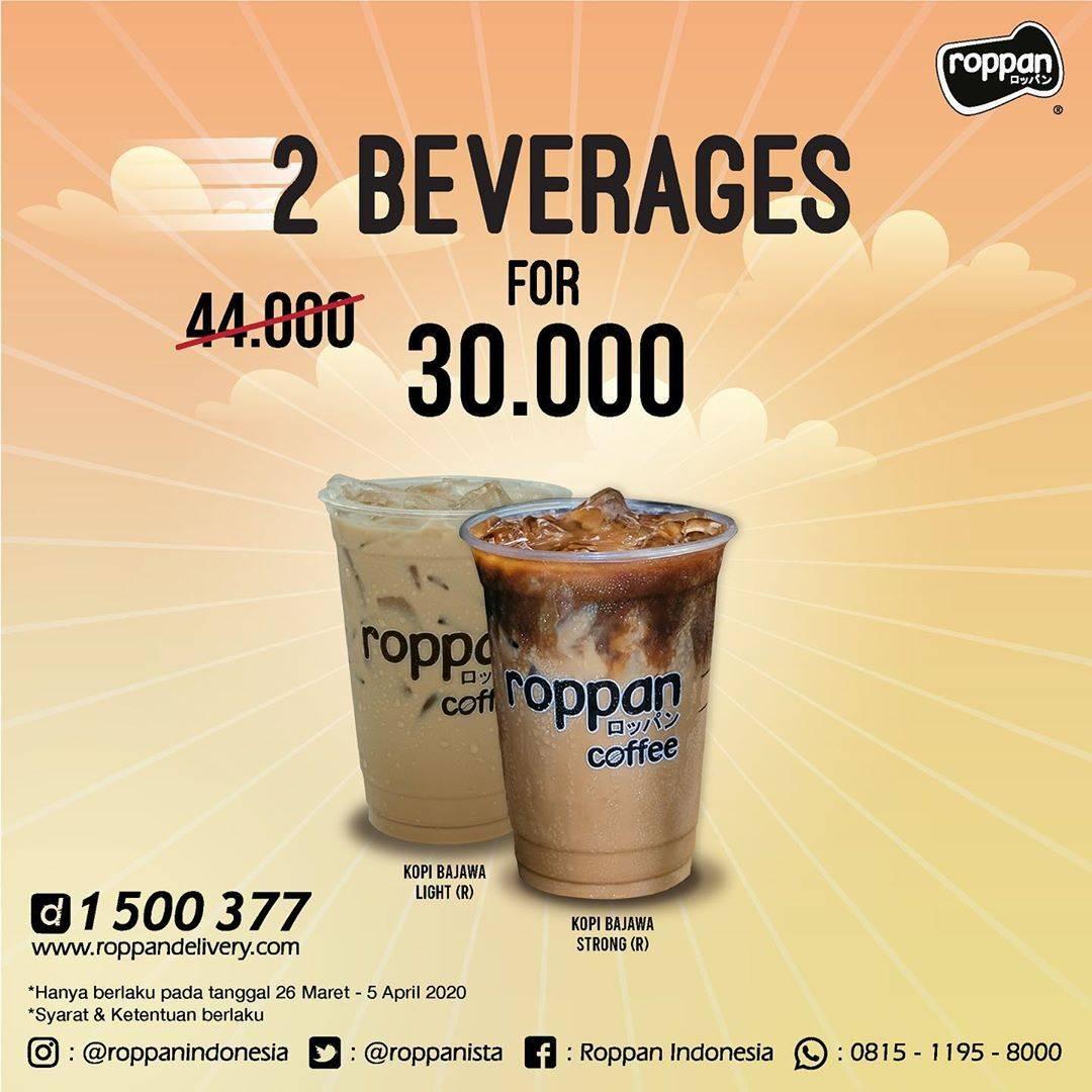 Roppan Promo Roppan Delivery Untuk Paket Beverage Dengan Harga Mulai Dari Rp. 30.000