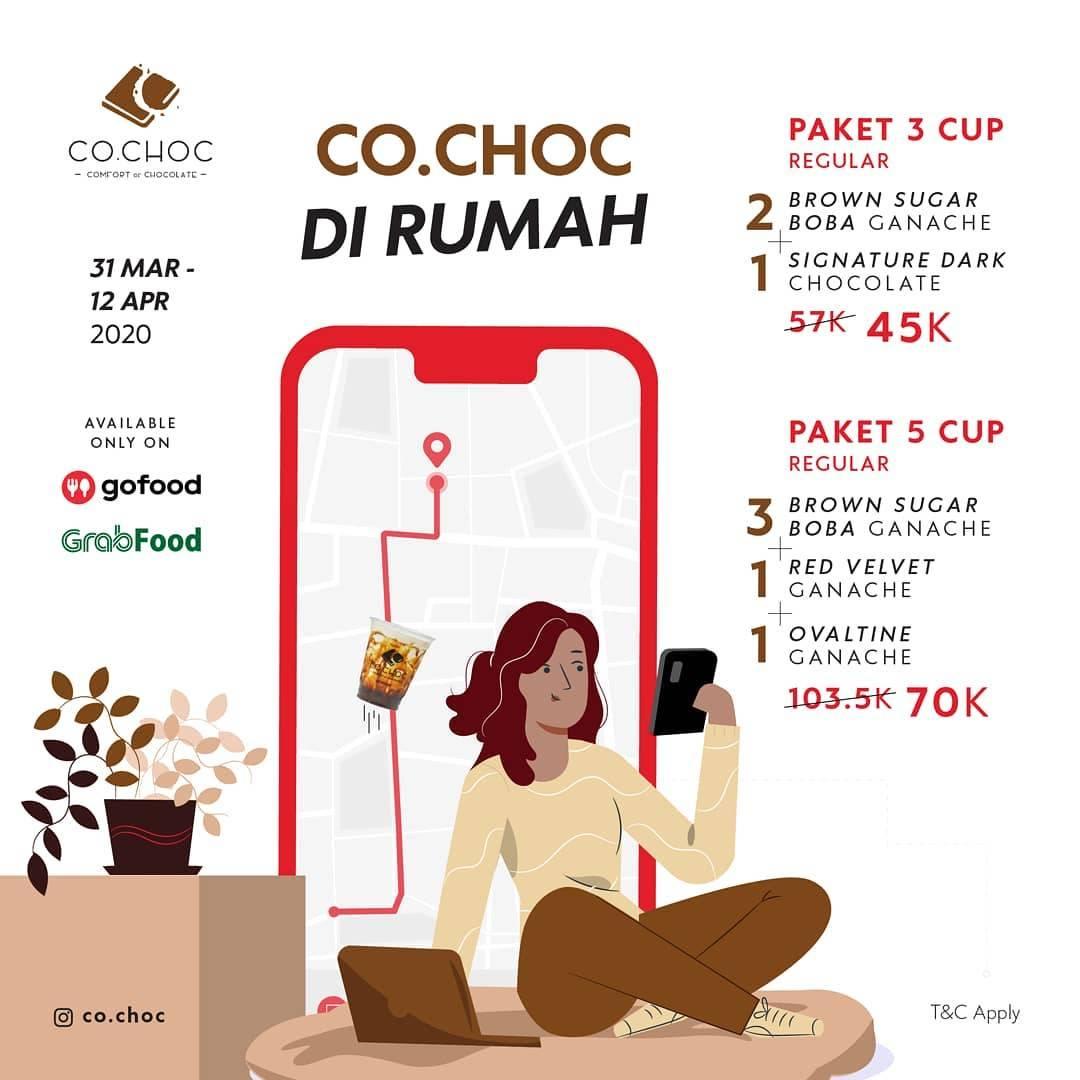 Co.Choc Promo Paket Minuman Di Rumah Aja Dengan Harga Mulai Dari Rp. 45.000