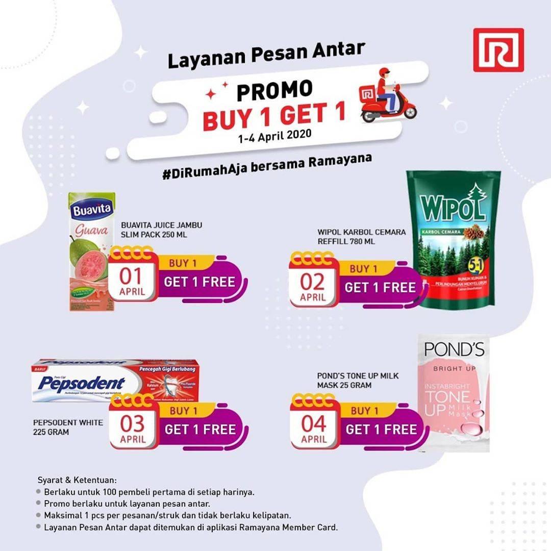 Ramayana Department Store Promo Buy 1 Get 1 Free Untuk Item Pilihan Pemesanan Via Delivery