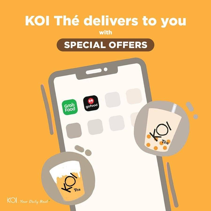 Diskon Koi Promo Special Packages For Delivery Order With GrabFood & GoFood