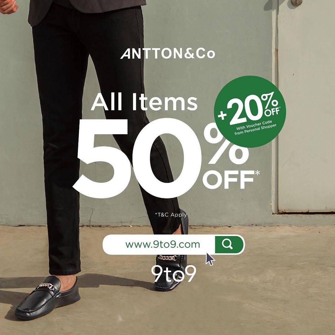 Antton & Co Promo Diskon 50% + 20% Untuk Semua Items