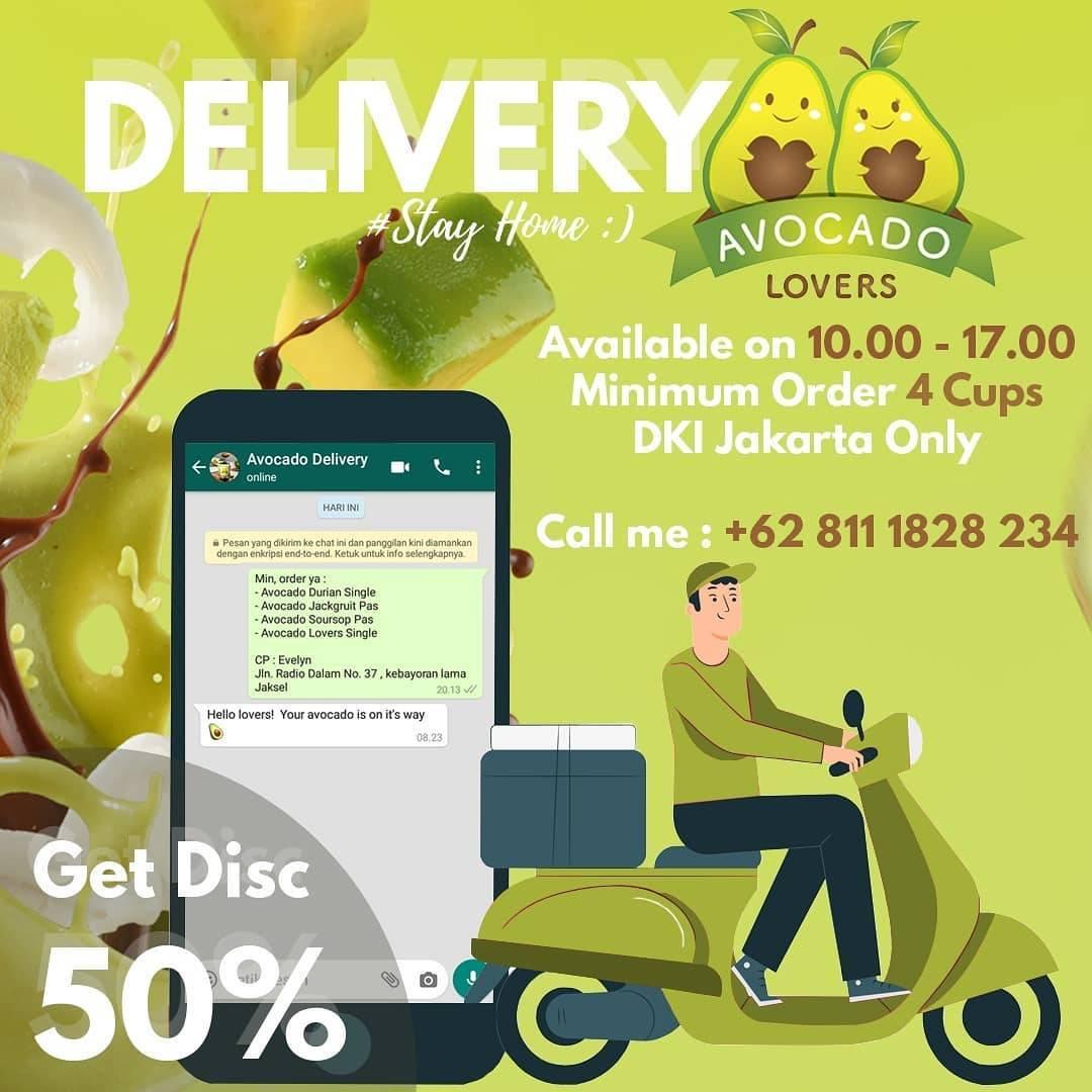 Avocado Lovers DKI Jakarta Promo Diskon 50% Untuk Pemesanan Delivery Minuman Favoritmu