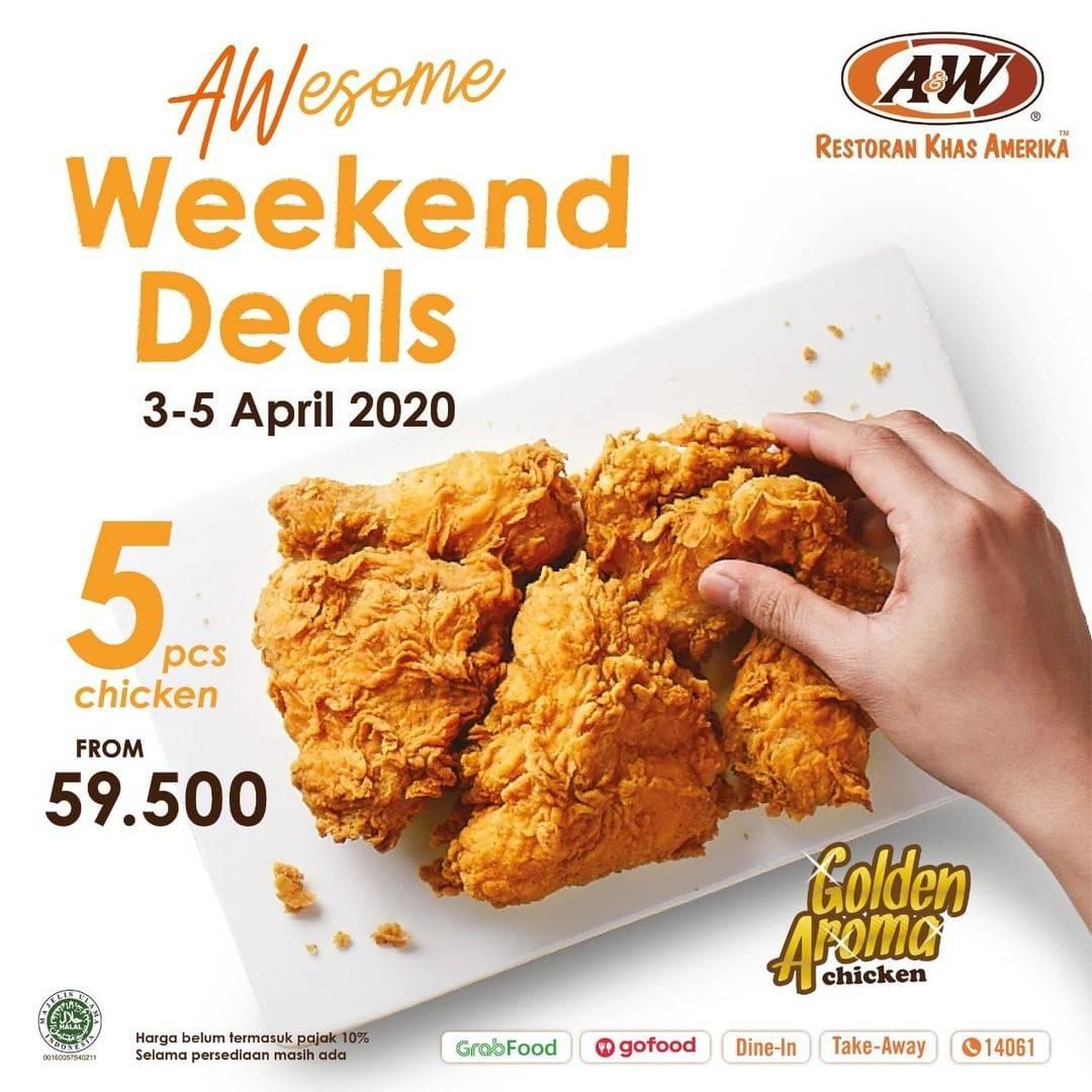 Diskon A&W Restaurant Promo 5 Pcs Ayam Golden Aroma Dengan Harga Mulai Dari Rp. 59.500