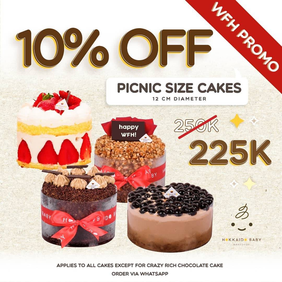 Hokkaido Baby Promo Discount 10% Off Of Every Picnic Size Cakes