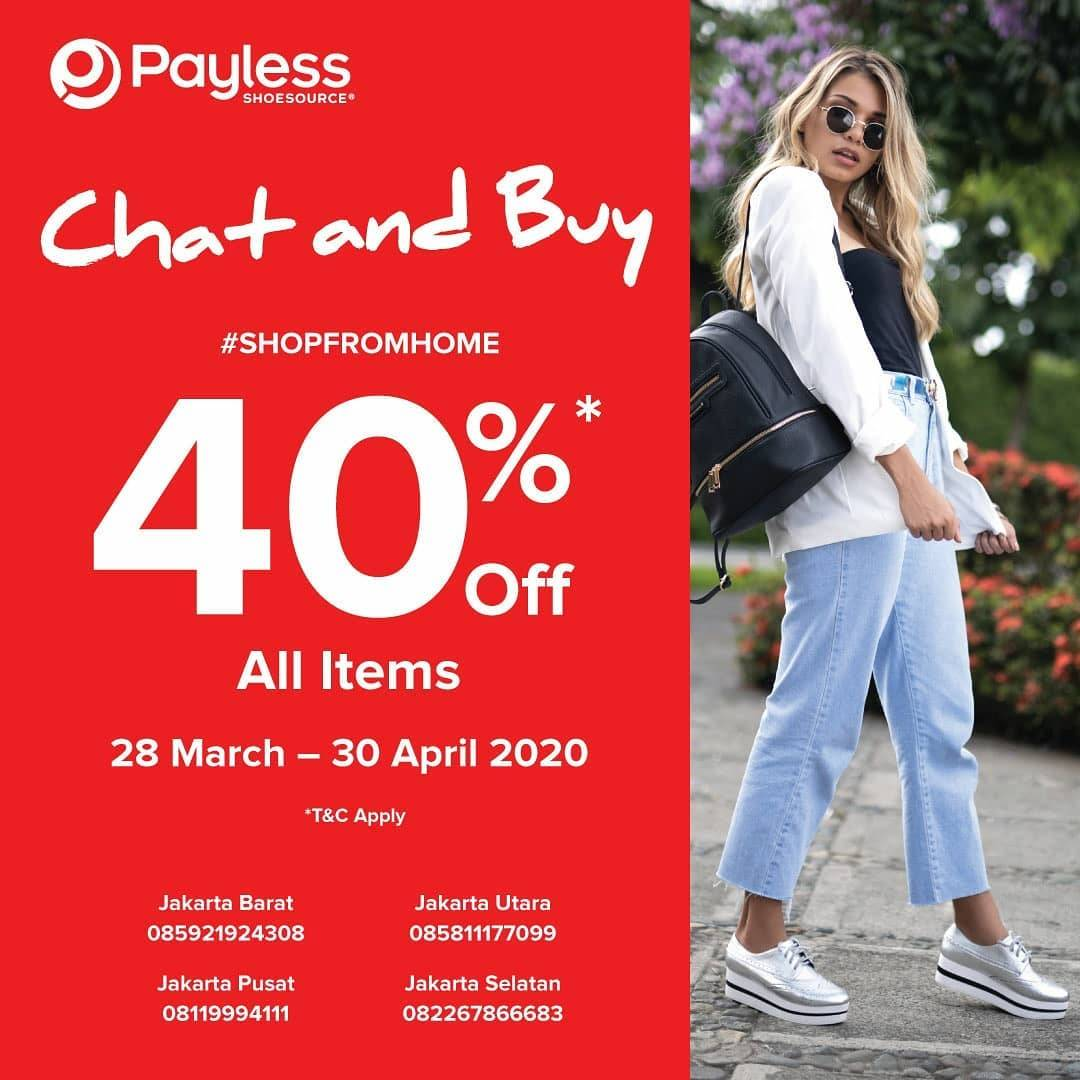 Payless Promo Shop From Home, Discount 40% Off  For All Items