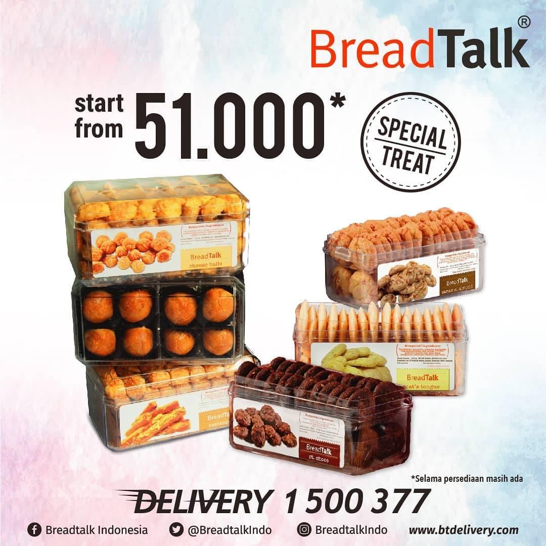 Breadtalk Promo Special Treat, Harga Spesial Semua Variant Cookies Mulai Dari Rp. 51.000