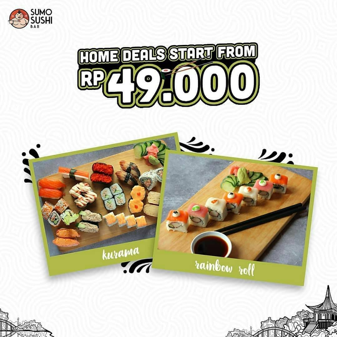 Diskon Sumo Sushi Bar Promo Sushi Set Start From Rp. 49.000 Order Via GrabFood/GoFood