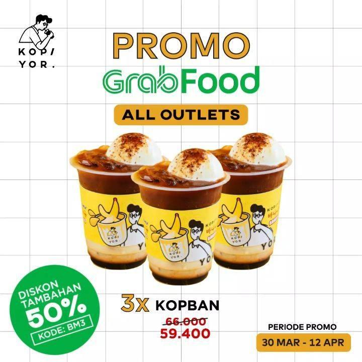 Kopi Yor Promo 3 Kopi Banana Harga Cuma Rp. 59.400 Pemesanan Via GrabFood
