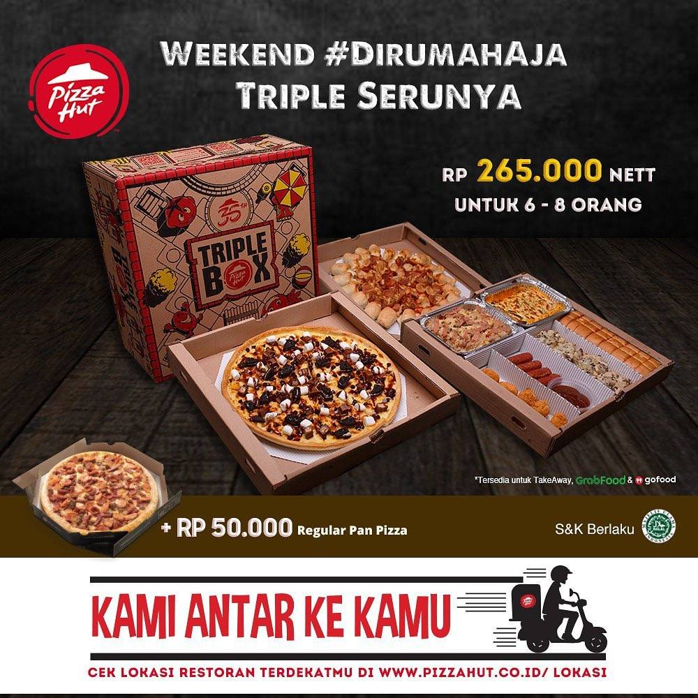 Pizza Hut Promo Triple Box Cuma Rp. 265.000/Nett