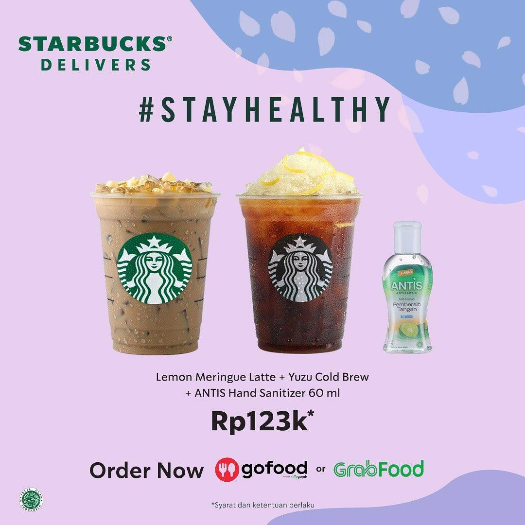 Starbucks Promo Paket Stay Healthy Hanya Rp. 123.000