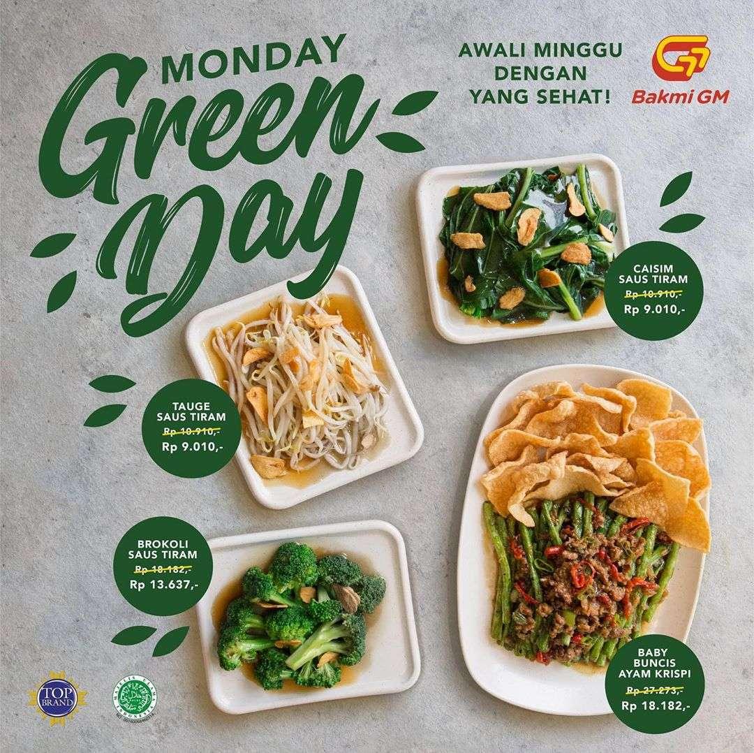 Bakmi GM Promo Monday Green Day, Harga Menu Sayuran Mulai Dari Rp. 9.010