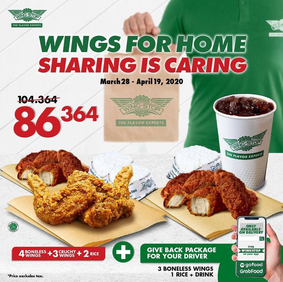 Diskon Wingstop Promo Wings For Home Sharing Is Caring, 2 Paket Spesial Cuma Rp. 86.364