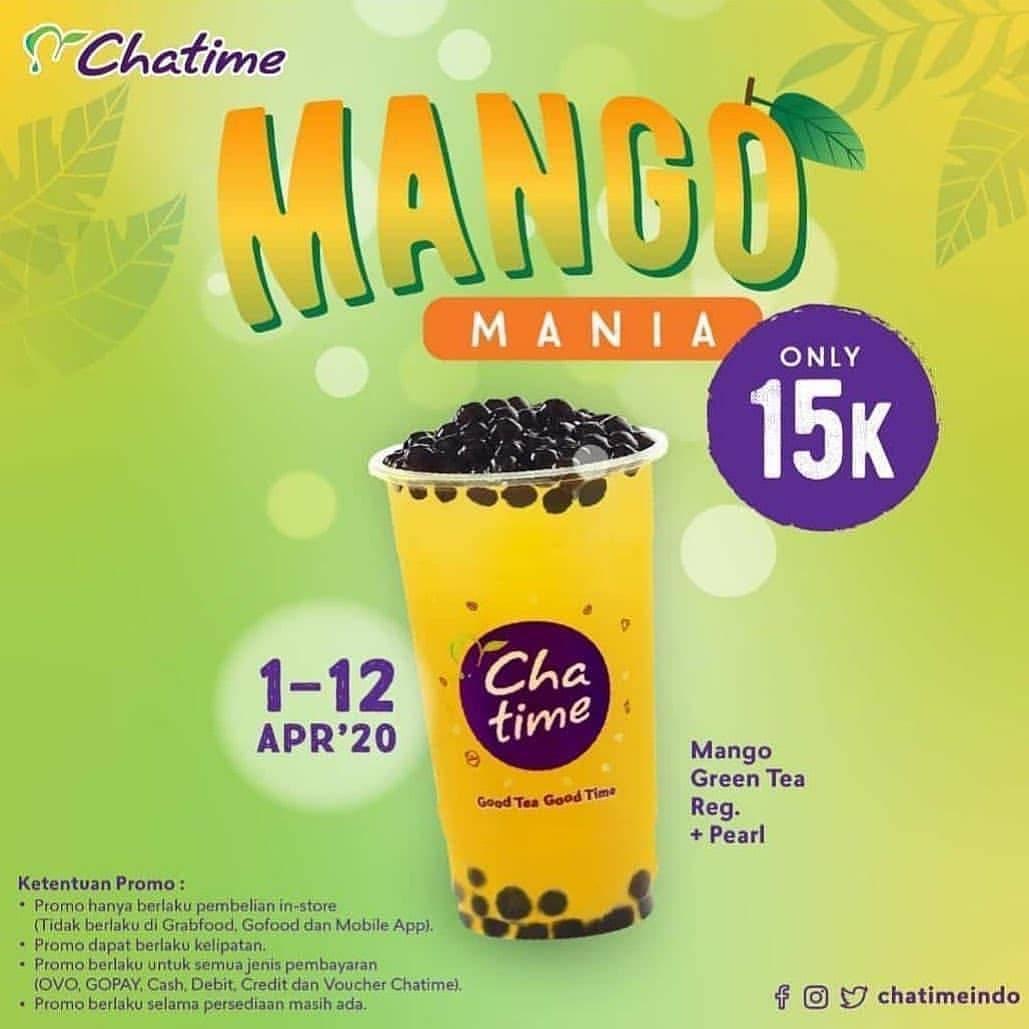 Chatime Promo Menu Mango Mania Cuma Rp. 15.000